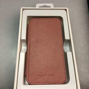 innovative design c0084 da195 Platinum Genuine leather folio wallet for iPhone X